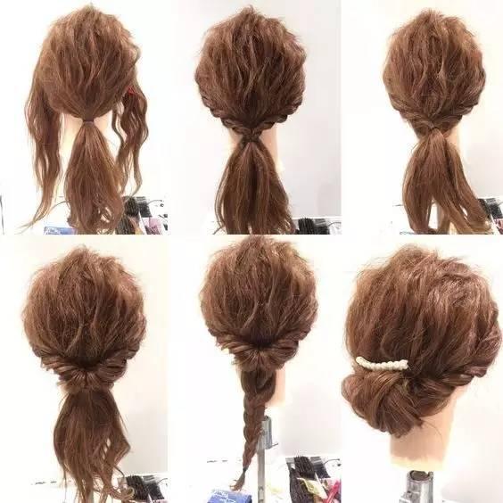 中短发编发盘发教程,手残党都能编出的美貌发型