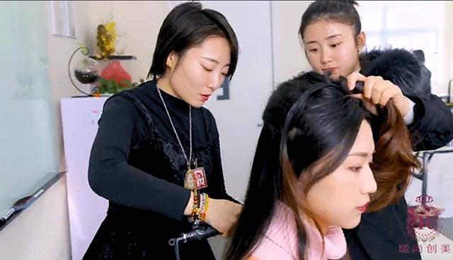 瑞尚创美小欣老师课堂职业造型花絮