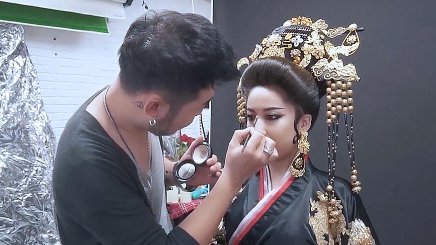 瑞尚创美迟峰老师唐朝造型妆容