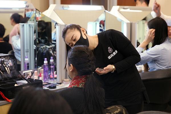 年会实习|年会,化妆造型工作