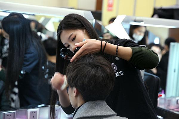 年会实习|集团年会,化妆造型工作