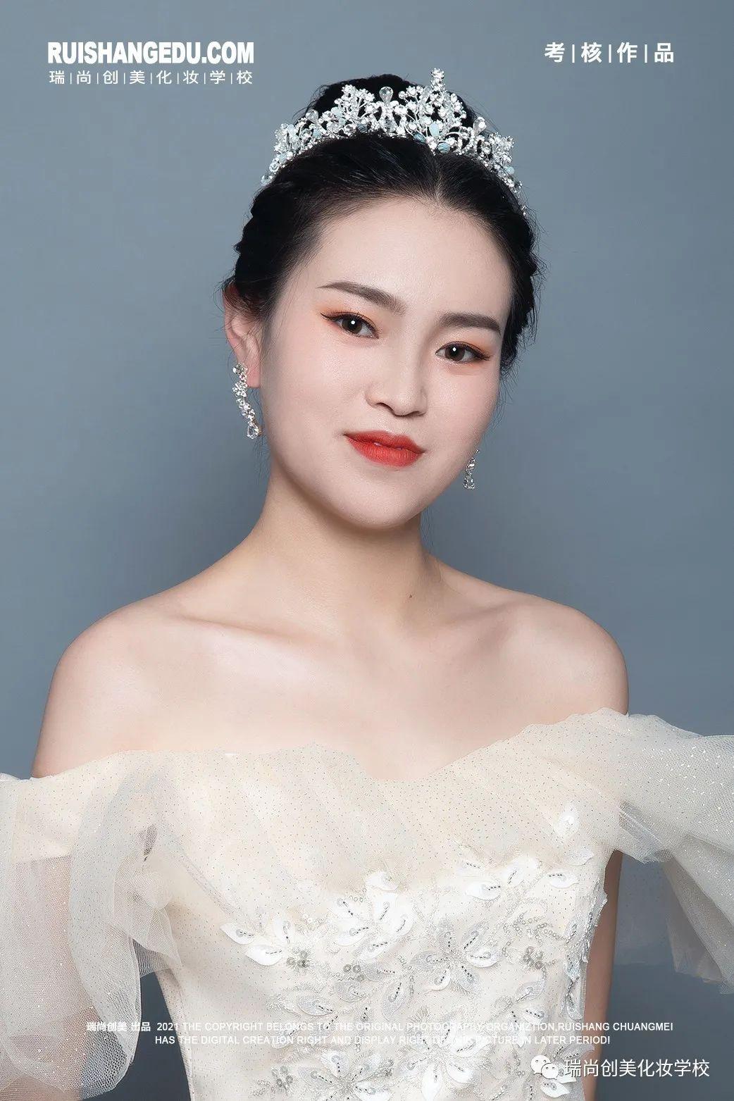 【瑞尚创美化妆学校】妃樱甯脂 简约钻石点缀甜溢柔美