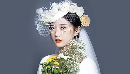 瑞尚创美化妆学校·学员作品  氧气鲜花新娘造型系列