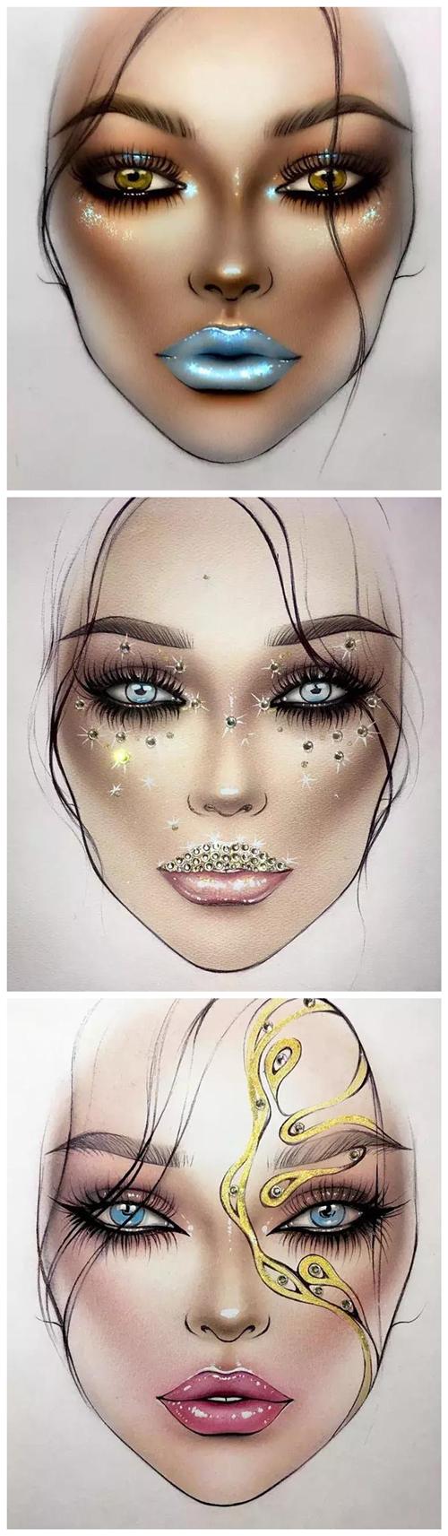 创意妆面作品-设计感超强